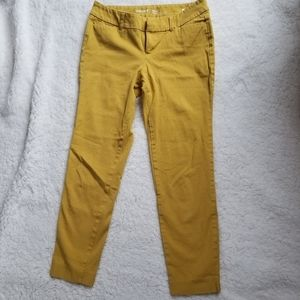 6/$20 Old Navy pixie size 2P mustard yellow pants